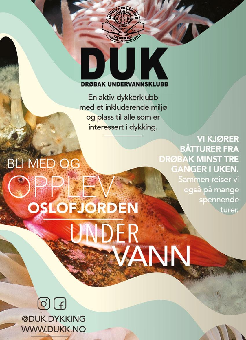 Annonsebanner Drøbak Undervannsklubb